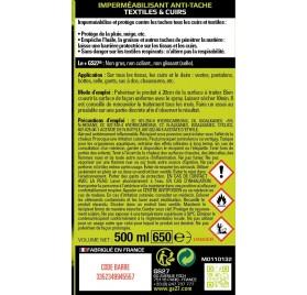 Imperméabilisant Anti-Tache - Textiles & Cuirs