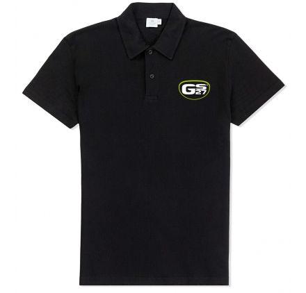Polo Noir Logo GS27 Vert Taille L