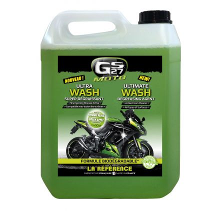 Ultra Wash Super Dégraissant Moto 5L - Facing